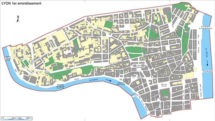 Le plan de l'arrondissement | Lyon Mairie du 1
